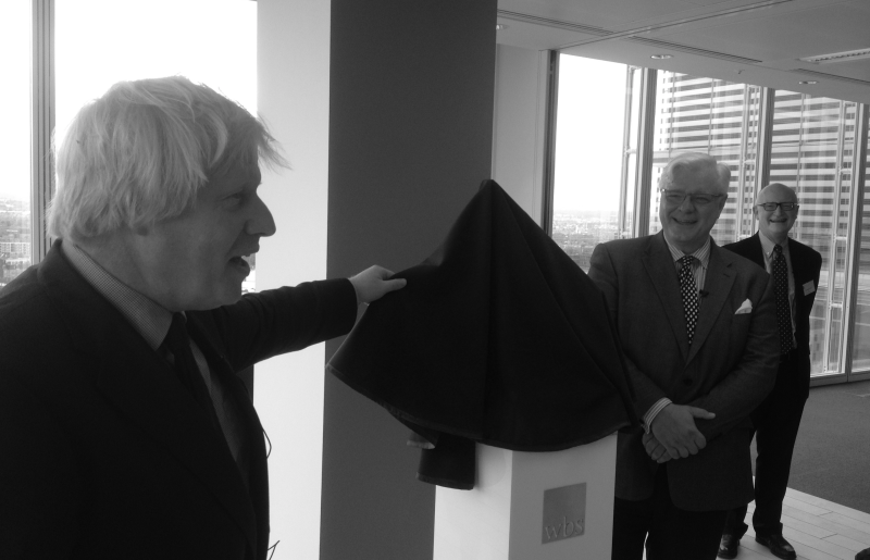 Boris Johnson opening WBS at the Shard